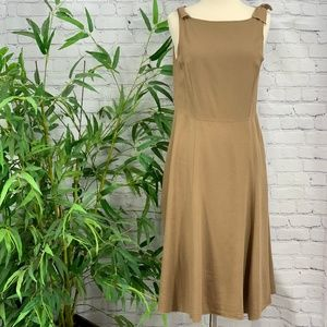 Final Touch Brown Tank Dress w/ Ties at Shoulders